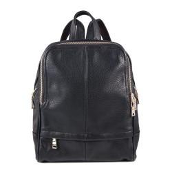 Τσάντα πλάτης γυναικεία μαύρη δερματίνη BP073 OEM
