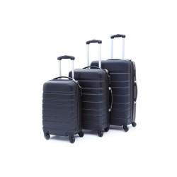 Σετ βαλίτσες ταξιδίου (μαύρο) ST15 OEM