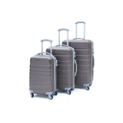 Σετ βαλίτσες ταξιδίου (μόκα-γκρί) ST14 OEM
