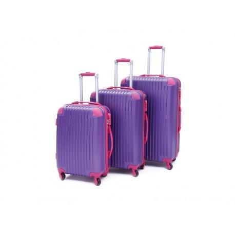 Σετ βαλίτσες ταξιδίου (μωβ-φούξια) ST10 OEM