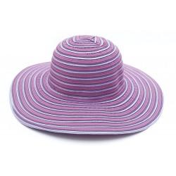 Υφασμάτινο καπέλο ριγέ μώβ...