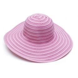 Υφασμάτινο καπέλο ριγέ ρόζ...