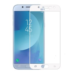 TEMPERED GLASS SAMSUNG GALAXY J3 2017 FULL COVER WHITE GL255