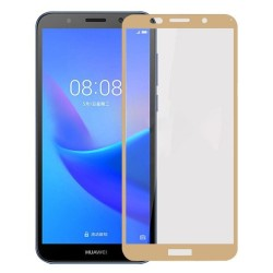 HUAWEI Y5 PRIME (2018) / Y5 (2018) 9H FULL COVER TEMPERED GLASS GOLD (OEM) GL297