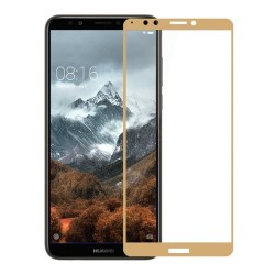 HUAWEI Y7 (2018)/ Y7 PRIME (2018) 9H  2.5D FULL FACE TEMPERED GLASS GOLD(OEM) GL295