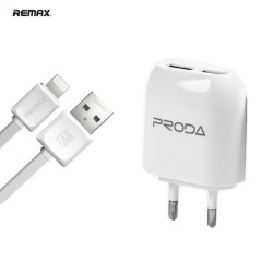 Remax Proda RP-U21(Ip) Φορτιστής Lightning δύο θυρών