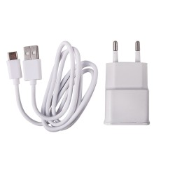 Earldom  micro USB Cable & Wall Adapter Λευκό ES-142