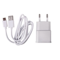 CHARGER USB- TYPE C CABLE 1M AND WALL ADAPTER WHITE 3910