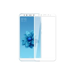 TEMPERED GLASS FULL COVER XIAOMI A2 / 6X WHITE GL343
