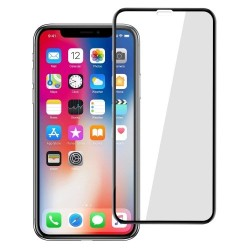 TEMPERED GLASS FULL COVER IPHONE XS MAX BLACK  GL302