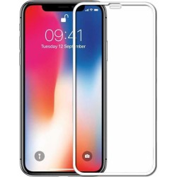 TEMPERED GLASS FULL COVER IPHONE XS MAX WHITE   GL303