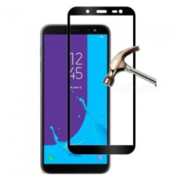 TEMPERED GLASS SAMSUNG GALAXY J6 2018 FULL COVER BLACK  GL312