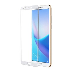 TEMPERED GLASS HUAWEI Y6 2018/ Y6 PRIME 2018 FYLL COVER WHITE GL338