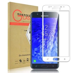 TEMPERED GLASS SAMSUNG GALAXY J7 2018 FULL COVER WHITE 5D GL310