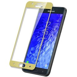 TEMPERED GLASS SAMSUNG GALAXY J7 2018 FULL COVER GOLD 5D GL311