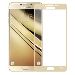 TEMPERED GLASS SAMSUNG GALAXY J3 2018 FULL COVER GOLD 5D GL320