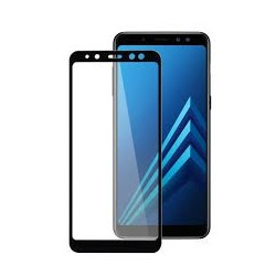 TEMPERED GLASS SAMSUNG GALAXY A8 2018 FULL COVER BLACK 5D GL325