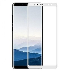 TEMPERED GLASS SAMSUNG GALAXY A8 2018 FULL COVER WHITE 5D GL326