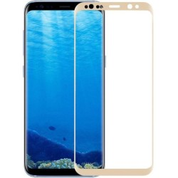 TEMPERED GLASS SAMSUNG GALAXY A8 2018 FULL COVER GOLD 5D GL327