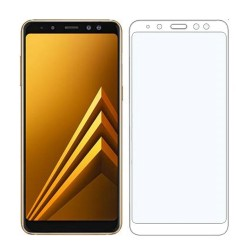 TEMPERED GLASS SAMSUNG GALAXY A8 PLUS 2018 FULL COVER WHITE GL329