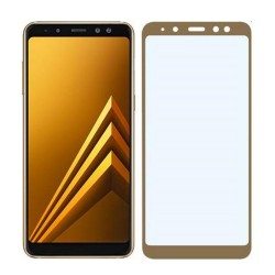 TEMPERED GLASS SAMSUNG GALAXY A8 PLUS 2018 FULL COVER GOLD GL330