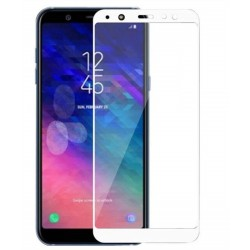 TEMPERED GLASS SAMSUNG GALAXY J8 2018 FULL COVER WHITE 5D GL307