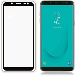 TEMPERED GLASS SAMSUNG GALAXY J8 2018 FULL COVER BLACK  GL306