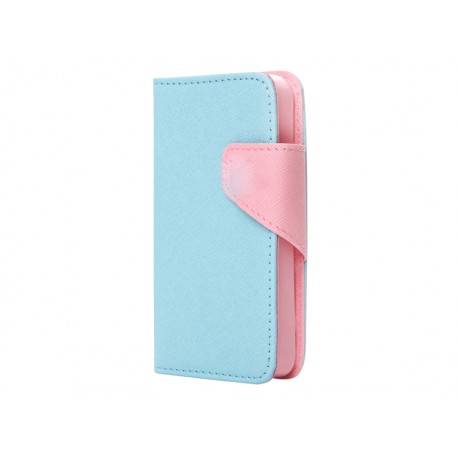 BOOK CASE ΓΙΑIPHONE 6/6S LIGHT BLUE PINK IK634