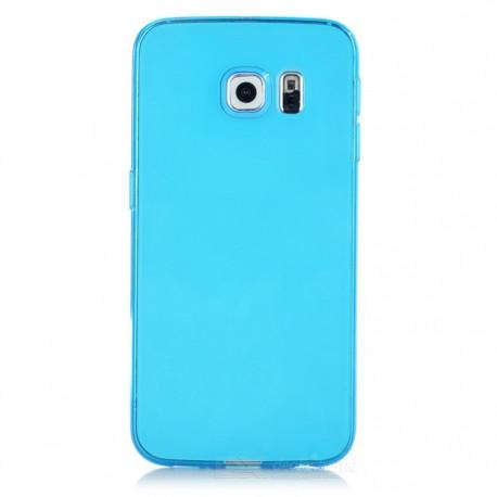 TPU BACK CASE ΓΙΑ SAMSUNG GALAXY S6 EDGE TP631 LIGHT BLUE