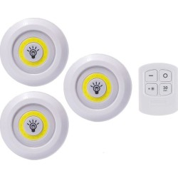 3 Pack Cob Led Wireless...