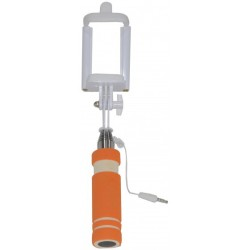 Selfie Stick  Mini Πορτοκαλί με Καλώδιο Jack 3.5mm SF125