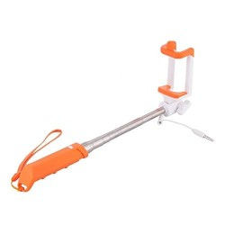 RAINBOW MINI MONOPOD 3.5mm PLUG SELFIE MONOPOD ORANGE SF115