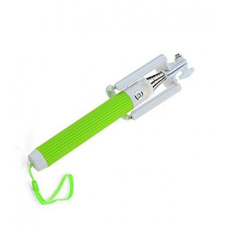 SELFIE STAND FOLDABLE ALL-IN-ONE MIRROR ΜΕ ΚΑΛΩΔΙΟ 3.5MM GREEN SF113