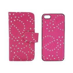 Flip Cover Strass 2 τεμάχια για iPhone 5/5s/SE IK219 OEM