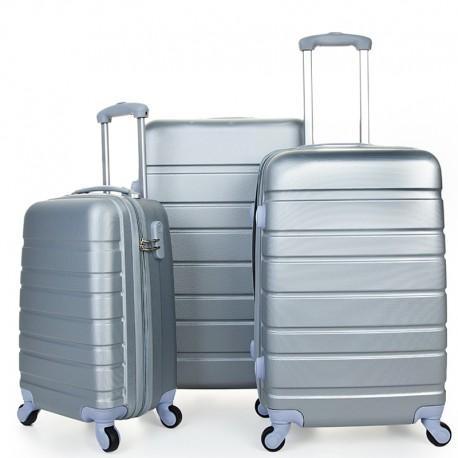 Σετ βαλίτσες ταξιδίου (ασημί) ST16 OEM