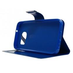 Θήκη δερματίνη Μπλε για Samsung Galaxy S7 077803 077803 OEM