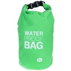 100% Αδιάβροχη Τσάντα Παραλίας 5lt Πράσινο Χρώμα με Ασφαλές Κλείσιμο WB102