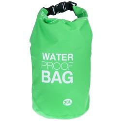 100% Αδιάβροχη Τσάντα Παραλίας 20lt Πράσινο Χρώμα με Ασφαλές Κλείσιμο WB112
