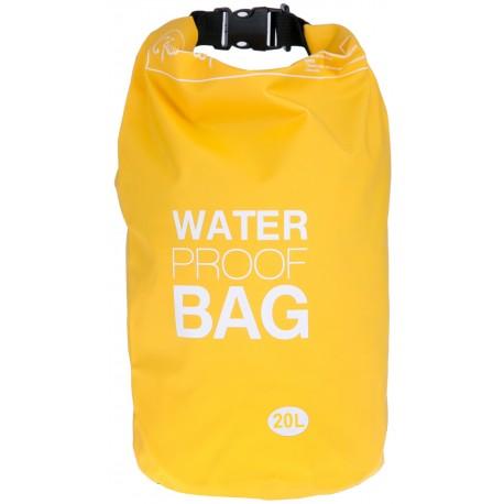 100% Αδιάβροχη Τσάντα Παραλίας 20lt Κίτρινο Χρώμα με Ασφαλές Κλείσιμο WB115