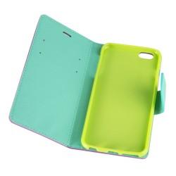 """Θήκη Δερματίνης flip """"Πορτοφόλι"""" με υποδοχή καρτών για iPhone 6s Μωβ IK637 OEM"""