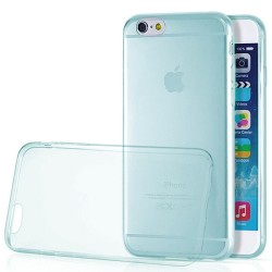 BACK COVER TPU ΓΙΑ IPHONE 6 PLUS TRANSPARENT LIGHT BLUE  TP621