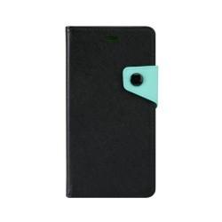 """Θήκη Δερματίνης flip """"Πορτοφόλι"""" με υποδοχή καρτών για iPhone 4s Μαύρη IK438 OEM"""