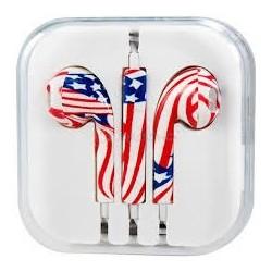 EARPODS AMERICAN FLAG PRINT UNIVERSAL XT034