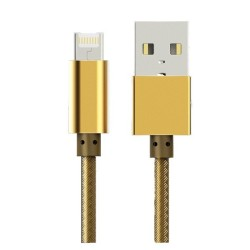 LDNIO 2 IN 1 DATA/CHARCE CABLE USB MALE TO LIGHTNING/MICRO USB MALE GOLD 1 METER LC88