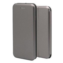 OEM FLIP BOOK CASE ΓΙΑ SAMSUNG GALAXY S7 EDGE  GREY 1744-S7E-03