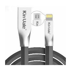 OEM 2 IN 1 DATA/CHARGE CABLE USB MALE TO LIGHTNING/MICRO USB MALE BLACK 1 M C8
