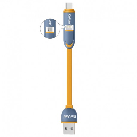 OEM ALL IN ONE  DATA/CHARGE CABLE USB MALE TO TYPE-C / LIGHTNING / MICRO USB 200mm C602