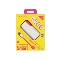 ABS Power Bank Pink Y38 5600mA PB002 OEM