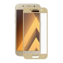 Tempered Glass (Full Cover) 9H 0.3mm Samsung Galaxy A5 2017 Gold GL158