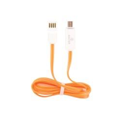 Καλώδιο φόρτισης DATA Micro USB/USB Universal Πορτοκαλί 3744 OEM